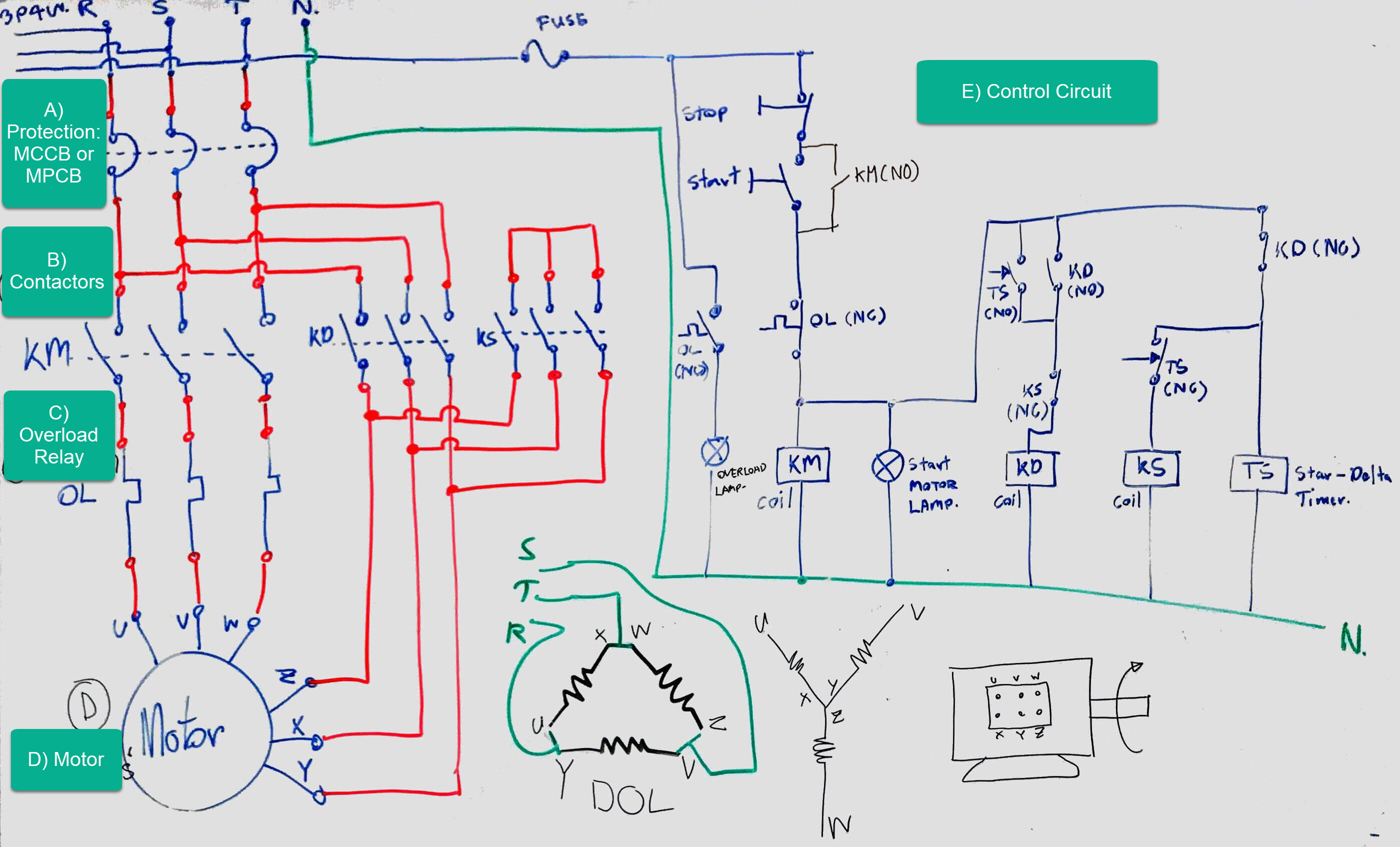 The Beginner's Guide to Wiring a Star-Delta Circuit ... on